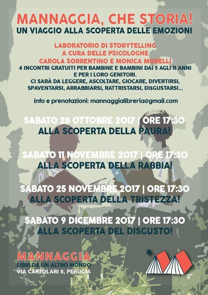 Mannaggia che storia - laboratorio storytelling Perugia
