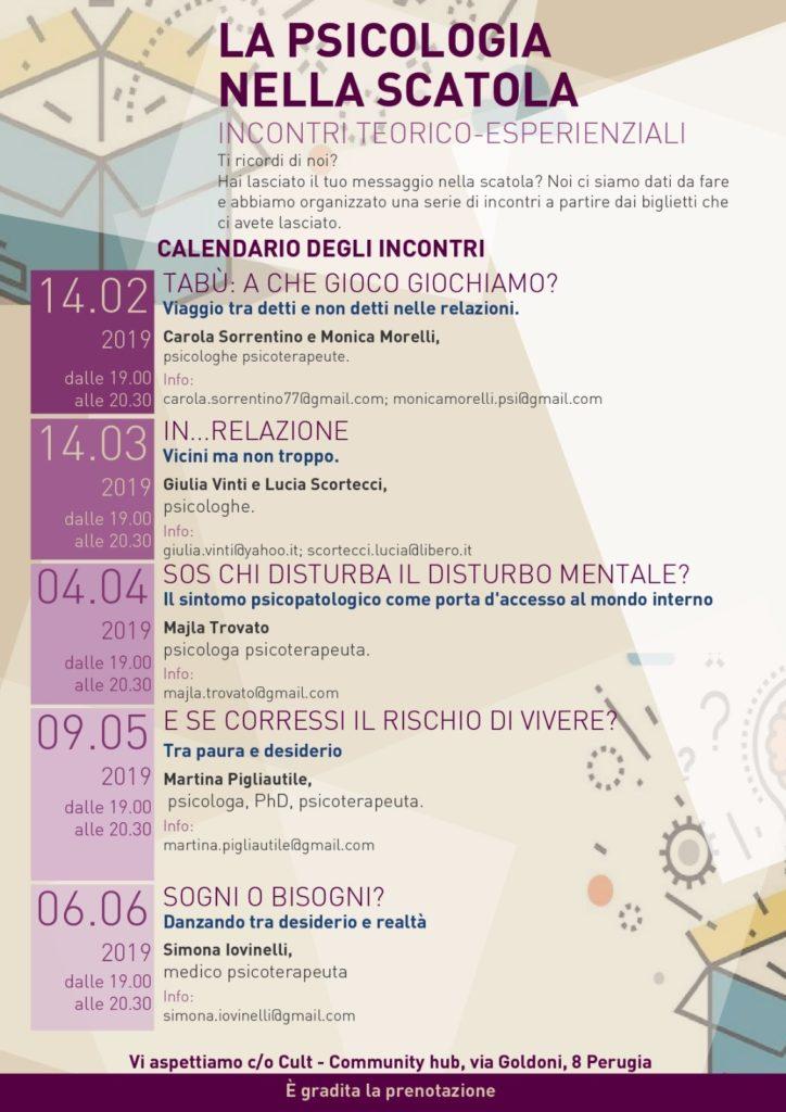 Psicologia a Perugia - ciclo di incontri benessere psicologico